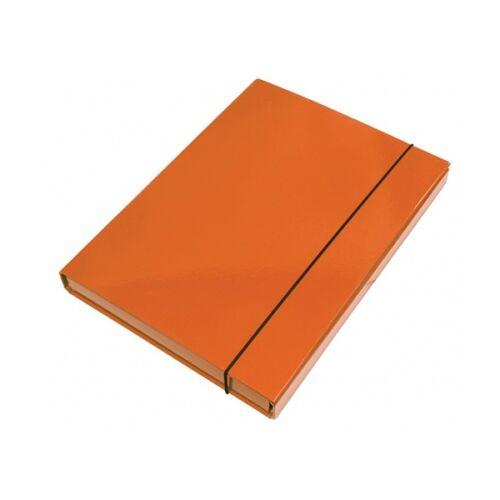 Füzetbox OPTIMA A/4 3 cm-es gerinccel narancs