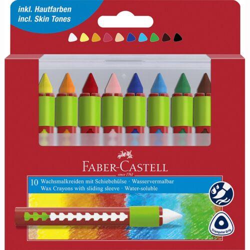 Zsírkréta FABER-CASTELL fogóval 10db-os készlet
