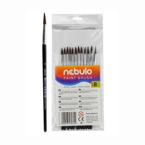 Ecset NEBULO póniszőr festett fanyelű 8-as