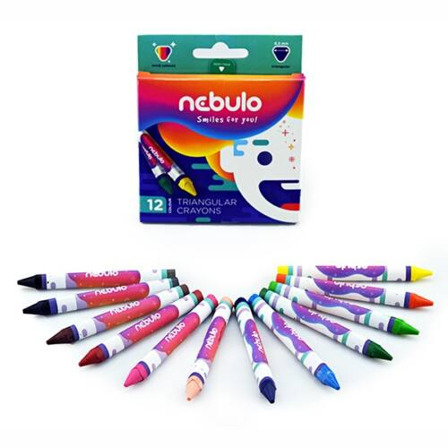 Zsírkréta NEBULO háromszög alakú 12db-os készlet