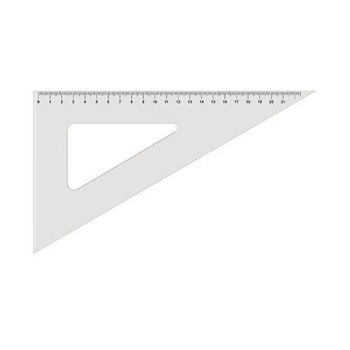 Vonalzó KOH-I-NOOR 744750 háromszög átlátszó  60°/250