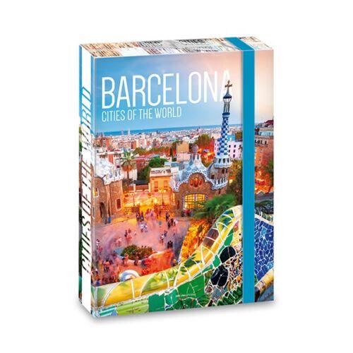 Füzetbox ARS UNA A/4 Cities Barcelona 40mm