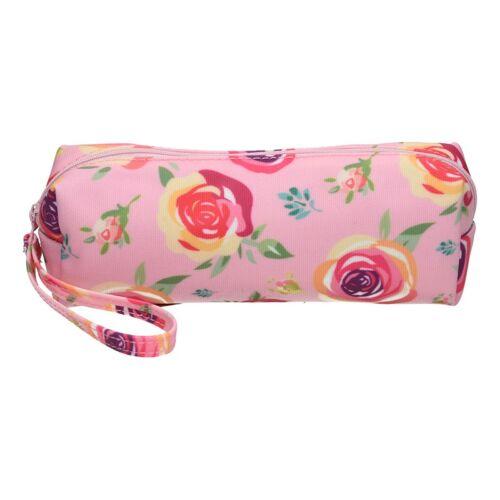Tolltartó PUKKA PAD kerek virágos rózsaszín