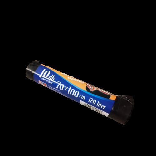 Szemetes roll fekete húzófüles EveryPack 70x100cm 120l 10db/roll 10605