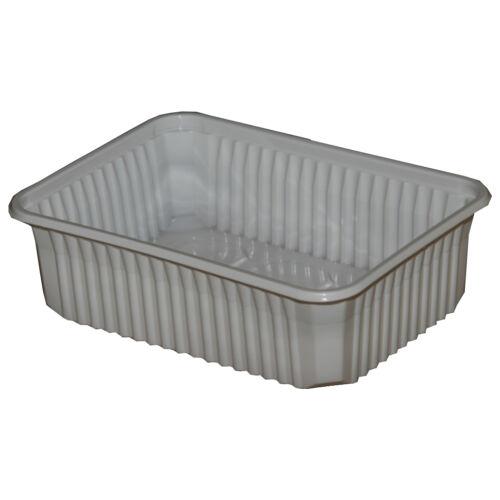 Ételes doboz mikrózható PP 1000ml fehér 50db/cs 4124
