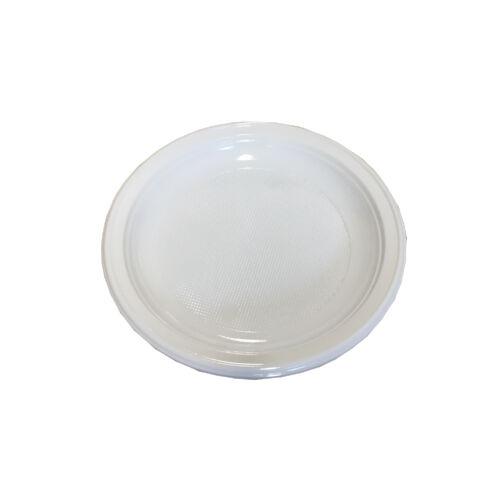 Tányér lapos fehér PS 21cm 100db 3787