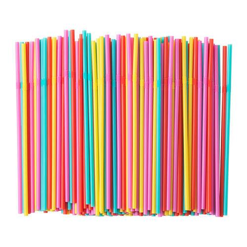 Szívószál műanyag vastag vegyes 500db/cs 116