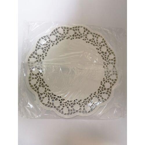 Tortacsipke kerek 36 cm, fehér 100db/cs 13051
