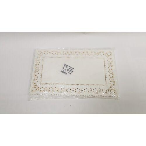Tortacsipke tégla 18x30 cm, fehér 100db/cs 13052