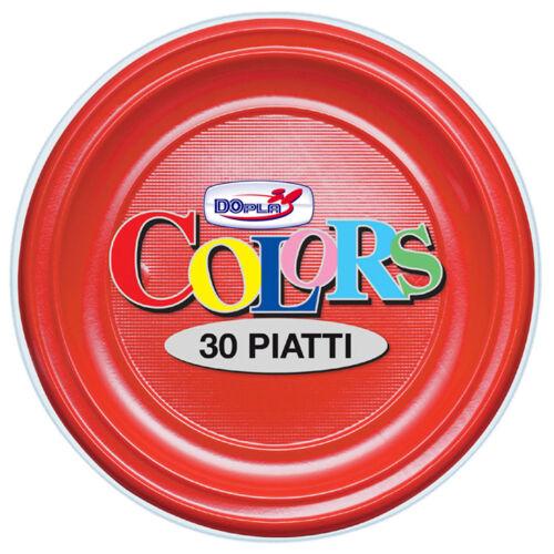 DOPLA műanyag tányér 22cm piros 30db/cs.7943