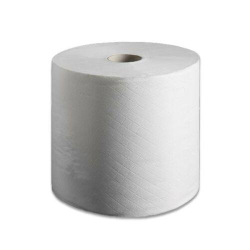 Kéztörlő, papír tekercses 2rétegű FEHÉR 110m 12789, 12918