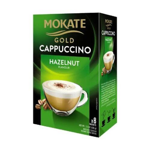 Mokate Gold Cappuccino Mogyoró instant kávéitalpor 100g 12,5x8g