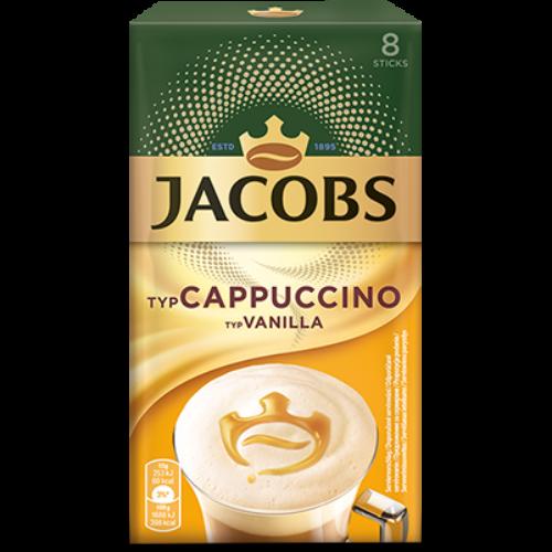 Jacobs Ins Cappuccino Vanilia instant kávéitalpor 8x15g