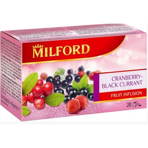 Milford Vörösáfonya-Feketeribizli 20x2,5g